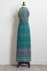 Teal Aztec Maxi Dress