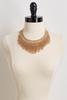 Woven Gold Bib Necklace