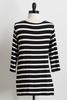 Striped Knotted Front Top