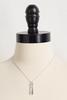 Inspirational Double Bar Pendant Necklace
