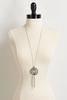 Metal Ring Tassel Pendant Necklace