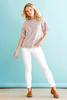 White Slimming Ankle Pants