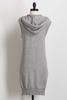 Gray Hooded Sweater Vest