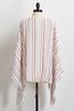 Ivory Stripe Poncho Top