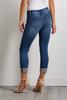 Jeweled Cuff Distressed Jeans