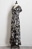 Black And White Tie Waist Maxi Dress