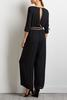 Two- Toned Tie Waist Jumpsuit