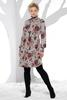 Floral Mock Neck Hacci Dress
