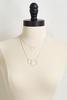 Textured Hoop Pendant Necklace