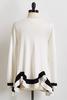Colorblock Hanky Hem Sweater