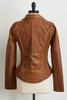 Rustic Faux Leather Jacket