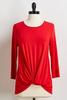 Red Twist Front Tee