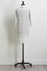Stripe Hacci Shift Dress