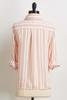 Blush Stripe Tie Front Shirt