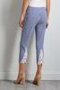 Cropped Stripe Crochet Hem Pants