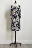 Navy Floral Bare Shoulder Dress