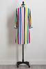 Bright Striped Shirt Dress