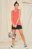 Clear Black Trim Crossbody Bag