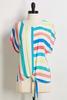 Spring Stripe Tie Front Top