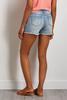 Distressed Lace Trim Shorts