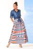Bright Aztec Maxi Skirt