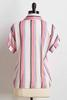 Knotted Pink Stripe Shirt