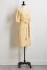Gold Stripe Linen Dress