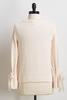 Ivory Chenille Tie Sleeve Sweater