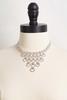 Rhinestone Necklace And Earring Set