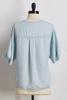 Chambray Tie Front Top