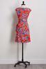 Mesh Floral Faux Wrap Dress