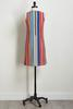 Colorful Ribbed Stripe Shift Dress