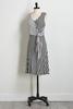 Mixed Stripe Side Tie Dress