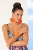 Raffia And Stone Cuff Bracelet