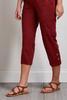 Burgundy Cropped Utility Pants