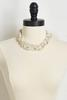 Braided Pearl And Stone Necklace