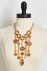 Dangling Mixed Wood Necklace