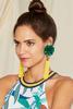 Statement Flower Tassel Earrings