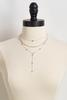Silver Layered Y- Necklace