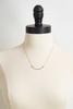 Hammered Curve Bar Necklace