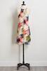 Bright Palm Leaf Slip Dress