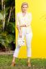 Yellow Stripe Linen Blazer