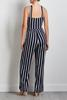 Striped Navy Jumpsuit