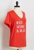 Red Wine And Blue Tee