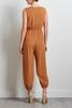 Caramel Button Front Jumpsuit