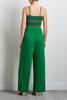 Green Smocked Jumpsuit