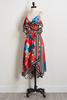 Tropical High- Low Wrap Dress