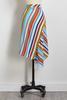 Striped Crepe Asymmetrical Skirt