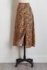 Tiger Print Midi Skirt