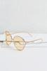 Nude Round Metal Sunglasses